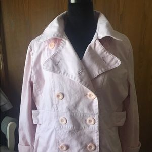 Mossimo   Pink Peacoat Collared Spring Jacket